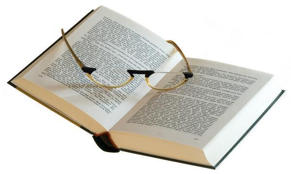 Buch Kopf buch-brille