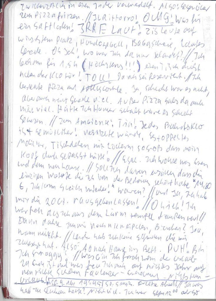 Tagebuch 15